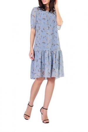 Платье Forus. Цвет: серо-голубой
