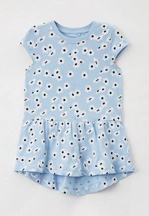 Платье Name It. Цвет: голубой