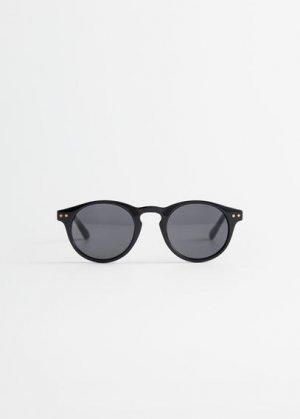 Солнцезащитные очки в пластиковой оправе - Porter Mango. Цвет: черный