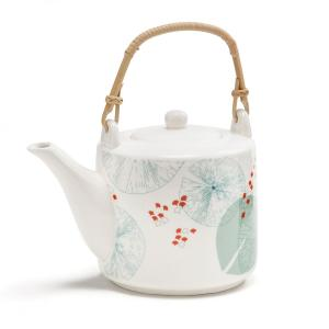Чайник фарфоровый AKINA LA REDOUTE INTERIEURS. Цвет: белый наб.рисунок
