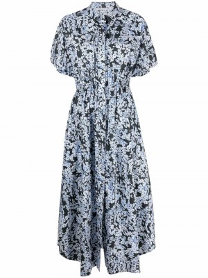 Платье Anjelica с цветочным принтом CAMILLA AND MARC. Цвет: черный