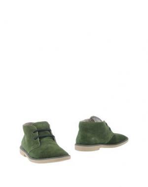 Полусапоги и высокие ботинки DUDE. Цвет: зеленый