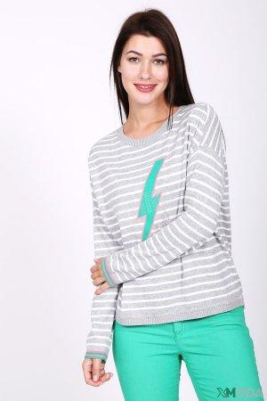 Пуловер Oui. Цвет: серый