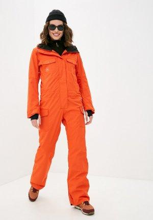 Комбинезон горнолыжный Billabong BREAK OF DAWN SUIT. Цвет: оранжевый