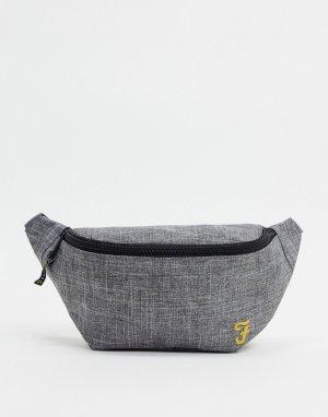 Серая сумка-кошелек на пояс -Серый Farah