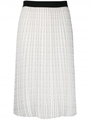 Плиссированная юбка с логотипом Karl Lagerfeld. Цвет: белый