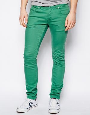 Облегающие эластичные чиносы United Colors Of Benetton. Цвет: зеленый