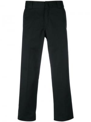 Укороченные классические брюки Carhartt. Цвет: чёрный