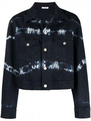 Джинсовая куртка с принтом тай-дай P.A.R.O.S.H.. Цвет: 812 голубой