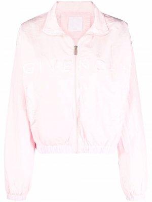 Спортивная куртка с вышитым логотипом Givenchy. Цвет: розовый