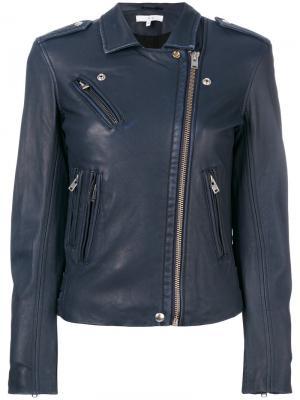 Байкерская куртка Han Iro. Цвет: синий