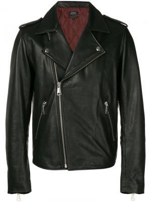 Куртка на молнии A.P.C.. Цвет: черный