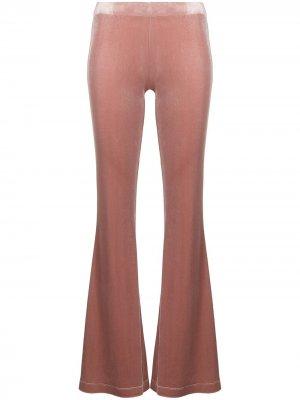 Расклешенные бархатные брюки Antonella Rizza. Цвет: розовый