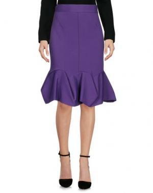 Юбка до колена AQUILANO-RIMONDI. Цвет: фиолетовый