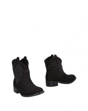 Полусапоги и высокие ботинки ANNA FIELD. Цвет: черный
