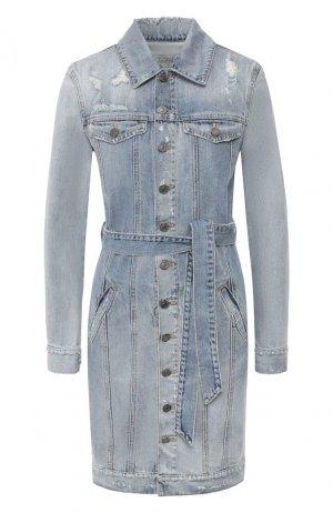 Джинсовое платье Givenchy. Цвет: синий