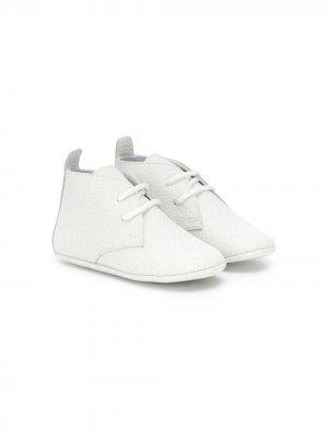 Ботинки на шнуровке Emporio Armani Kids. Цвет: белый