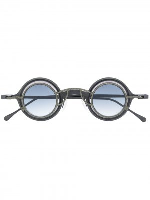 Солнцезащитные очки из коллаборации с Rigards Ziggy Chen. Цвет: серый