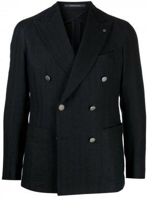 Двубортный пиджак Tagliatore. Цвет: синий