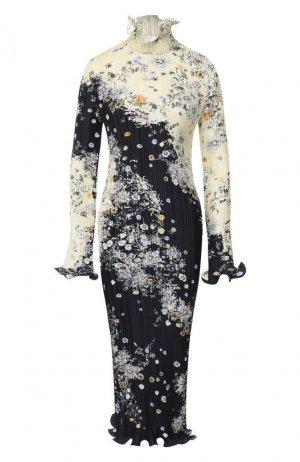Платье с принтом Givenchy. Цвет: желтый