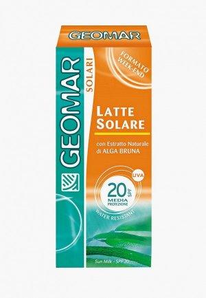 Молочко солнцезащитное Geomar с уровнем защиты SPF 20 75 мл. Цвет: разноцветный