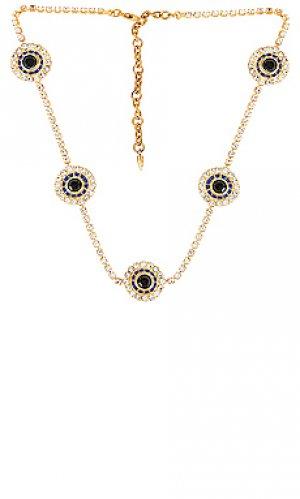 Ожерелье lottie Elizabeth Cole. Цвет: metallic gold,blue