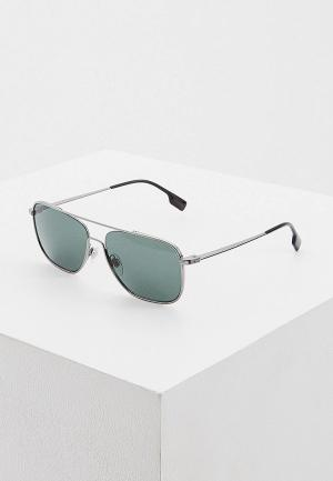 Очки солнцезащитные Burberry 0BE3112 100371. Цвет: серебряный
