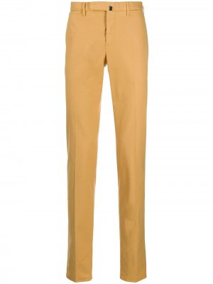 Классические брюки чинос Incotex. Цвет: желтый