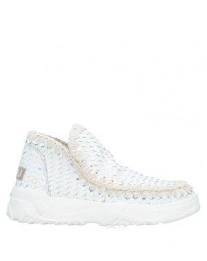 Высокие кеды и кроссовки MOU. Цвет: белый
