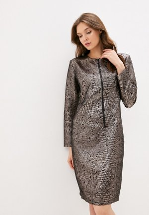 Платье Adzhedo. Цвет: серебряный