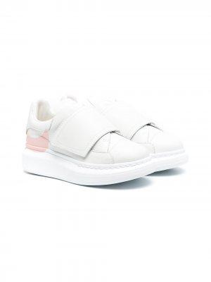 Кроссовки Oversized на липучках Alexander McQueen Kids. Цвет: белый