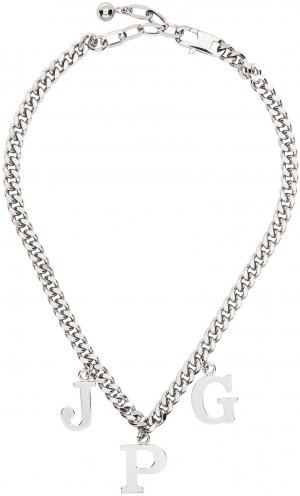 SSENSE Exclusive Silver Les Marins JPG Necklace Jean Paul Gaultier. Цвет: 91-silver