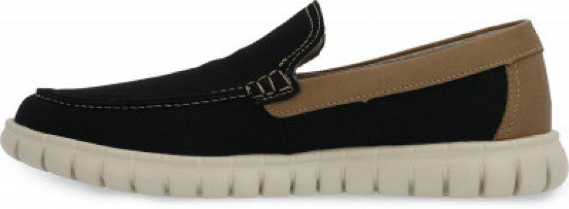 Мокасины мужские New Slip-On, размер 43.5 Skechers. Цвет: черный