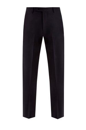 Классические черные брюки из шерстяной ткани CANALI. Цвет: черный