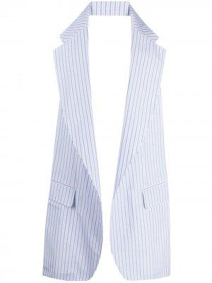 Жилет в тонкую полоску Comme Des Garçons Shirt. Цвет: синий