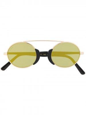 Солнцезащитные очки Togo в круглой оправе L.G.R. Цвет: золотистый