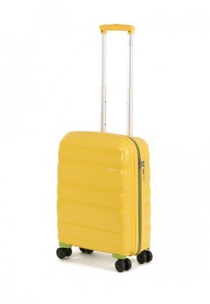 Чемодан Baudet 40 л (S). Цвет: желтый