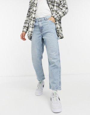Светлые выбеленные суженные книзу джинсы до щиколотки в рабочем стиле Levis Youth-Голубой Levi's
