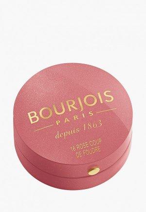 Румяна Bourjois Blusher Тон 16 rose coup de foudre. Цвет: розовый