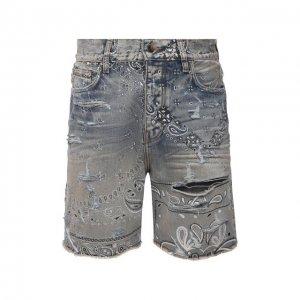 Джинсовые шорты Amiri. Цвет: синий