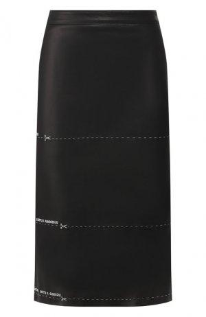 Кожаная юбка Vetements. Цвет: черный