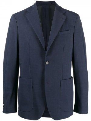 Пиджак с длинными рукавами Traiano Milano. Цвет: синий