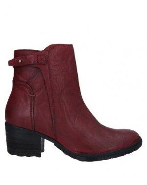 Полусапоги и высокие ботинки KHRIO'. Цвет: красно-коричневый