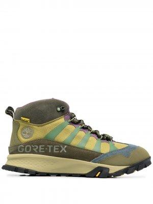 Ботинки на шнуровке Timberland. Цвет: зеленый