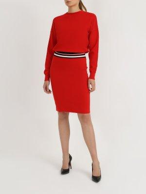 Платье с длинным рукавом Iwearit BOSS. Цвет: krasnyy