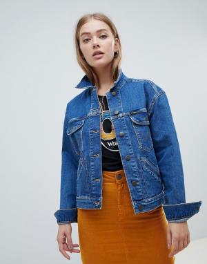 Джинсовая куртка Rocks Wrangler. Цвет: синий