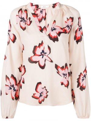 Блузка с цветочным принтом A.L.C.. Цвет: нейтральные цвета