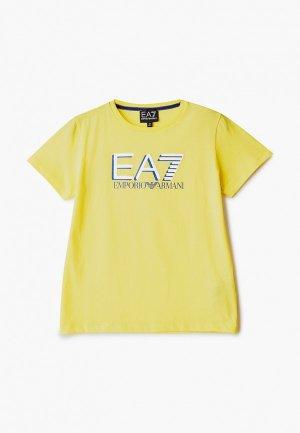Футболка EA7. Цвет: желтый