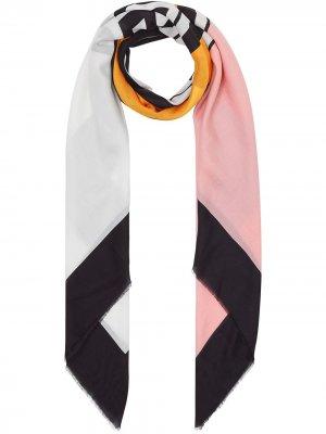 Большой платок с логотипом Burberry. Цвет: розовый
