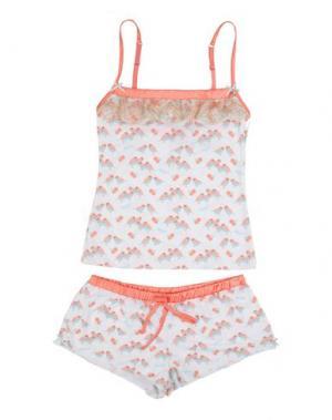 Пижама BLUGIRL BLUMARINE UNDERWEAR. Цвет: лососево-розовый